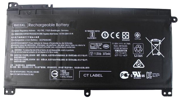 laptop battery Náhrada za HP 843537-541